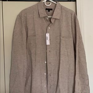 Two pocket rustic heather workshirt